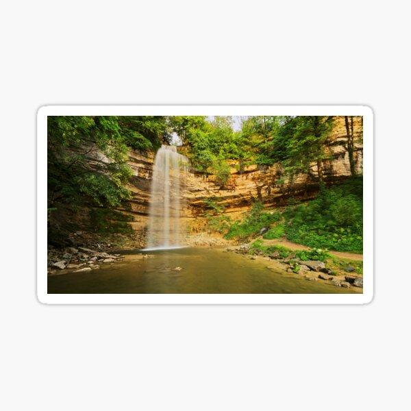 Saut Girard in Herisson waterfalls Sticker