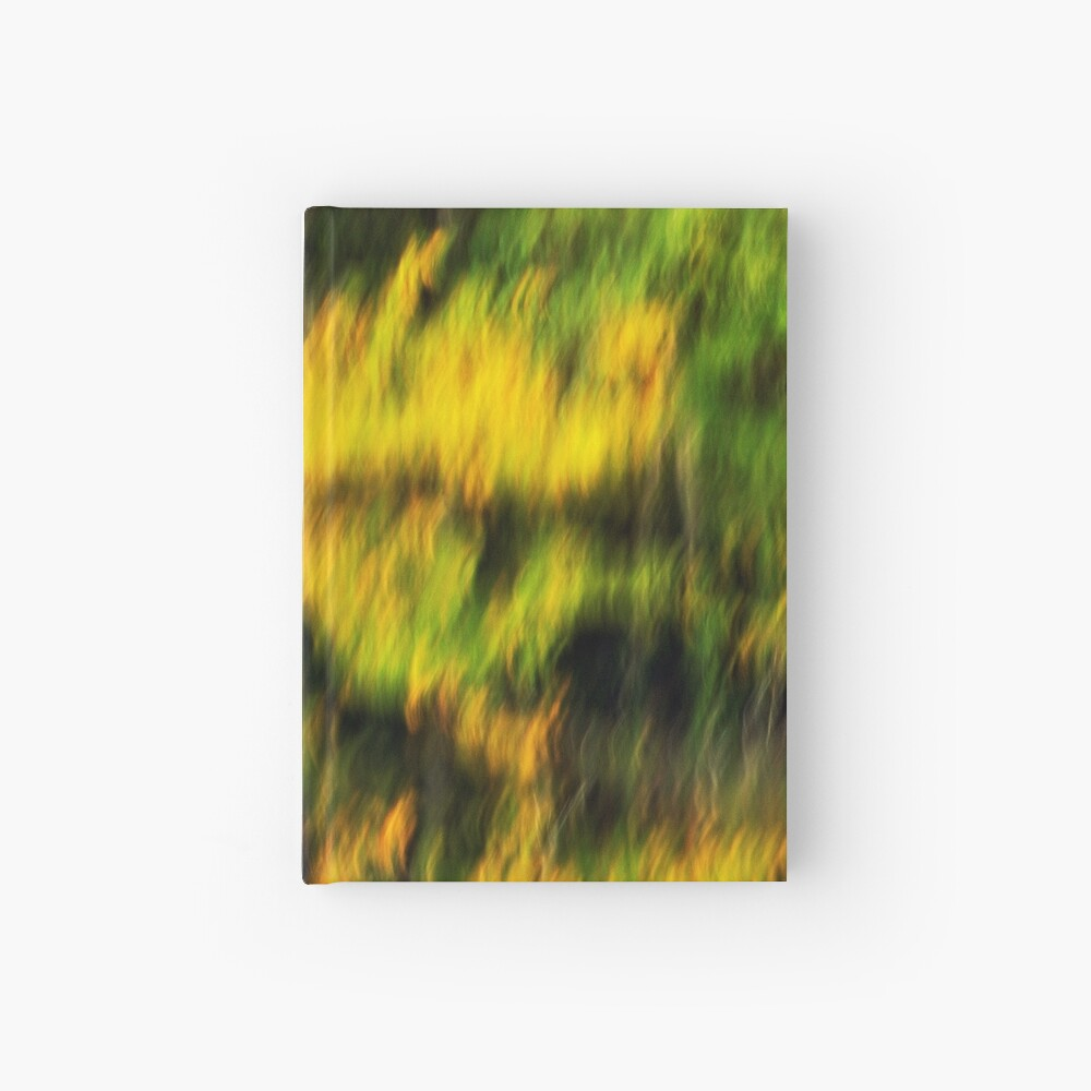 Abstract autumn colours reflected in the river Hardcover Journal