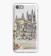Bath Abbey - Watercolour & Pen iPhone Case/Skin