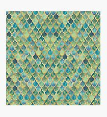 Mermaid Scales (green & gold) Photographic Print