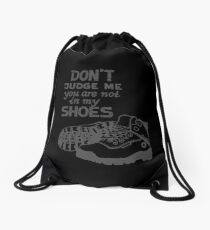 Don't Judge Me - Grey Drawstring Bag