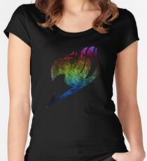 °MANGA° Fairy Tail Rainbow Logo Women's Fitted Scoop T-Shirt