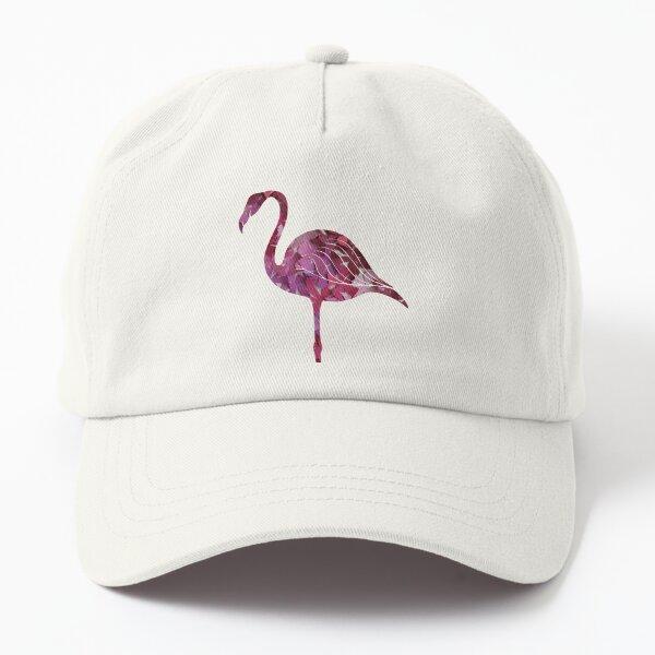 Pink Flower Flamingo Dad Hat
