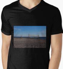 Sand Volleyball T-Shirt mit V-Ausschnitt für Männer