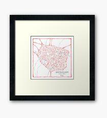 Birmingham (pink) Framed Print