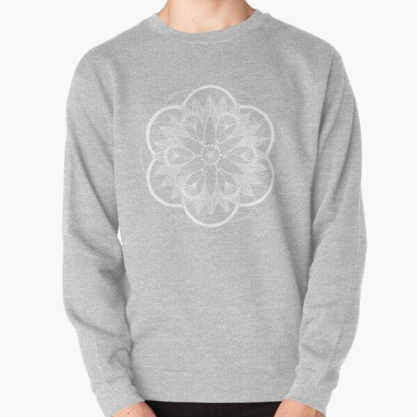 White Pond Bouquet Mandala Pullover Sweatshirt