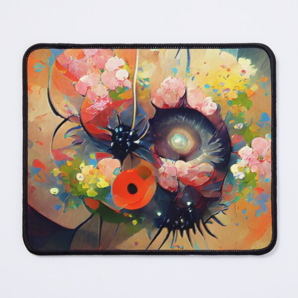 Flower Painting Abstract Colorful - Floral Wall Art - Living Room Wall Art Mouse Pad