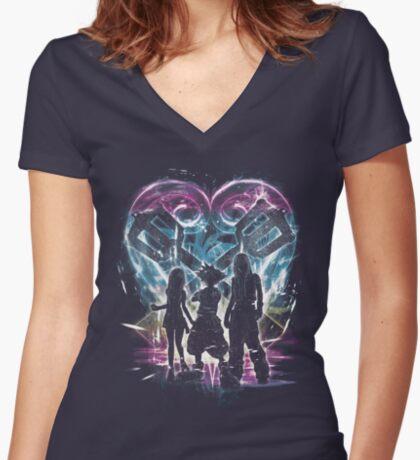 kingdom trio Women's Fitted V-Neck T-Shirt