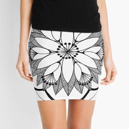 Pond Bouquet Mandala Mini Skirt
