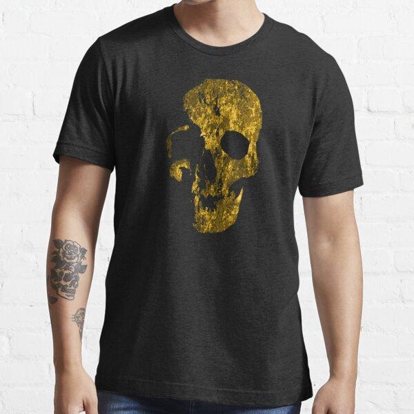 SKELETON SKULL ORANGE GRUNGE // Skull // Halloween // Ink Tattoo Style Design Essential T-Shirt