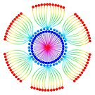 Rainbow Poppy Seed Mandala by DejaLulu
