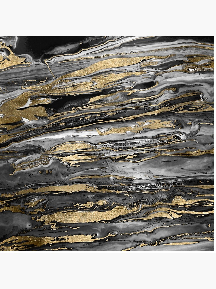 Stylish gold abstract marbleized paint by InovArtS