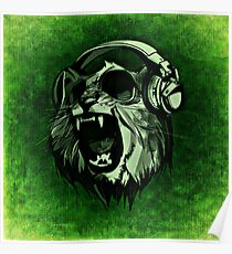 Cool Lion Poster