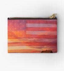 Rural Patriotic America Studio Pouch