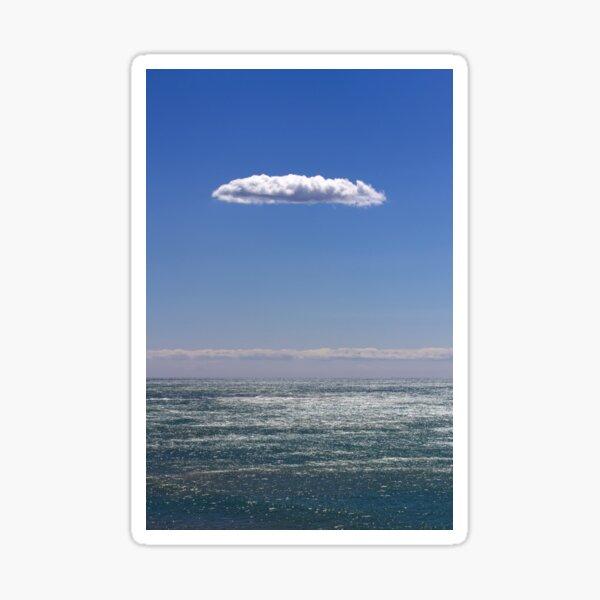 clouds about atlantic ocean Sticker