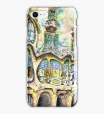 Casa Batllo - Watercolour & Pen iPhone Case/Skin