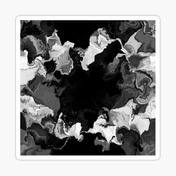 Künstlerisches, abstraktes Schwarzweiß Design Sticker