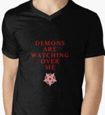 Demons Are Watching Over Me Men's V-Neck T-Shirt