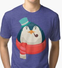 Hipster Penguin Tri-blend T-Shirt