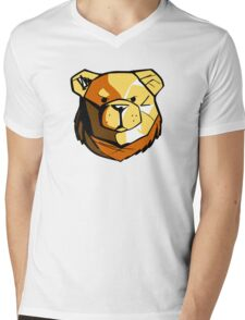 Robust Bear Community Mens V-Neck T-Shirt