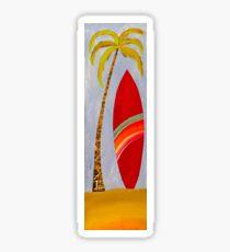 Salty surfboard Sticker