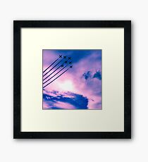 Purple Planes Framed Print