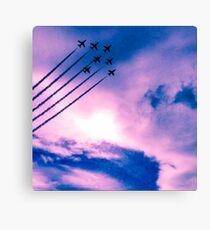 Purple Planes Canvas Print