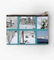 Winter Collage Studio Pouch