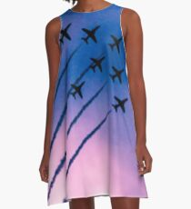 Purple Planes A-Line Dress