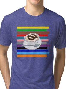 London Underground Cafe Latte Tri-blend T-Shirt