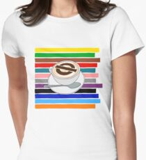 London Underground Cafe Latte Womens Fitted T-Shirt