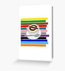 London Underground Cafe Latte Greeting Card