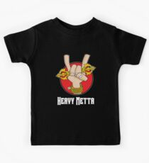 Heavy Metta - Dharma Metal horns (color) Kids Tee