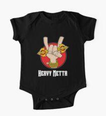 Heavy Metta - Dharma Metal horns (color) One Piece - Short Sleeve