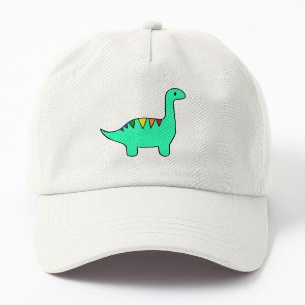 Rainbow striped dinosaur Dad Hat
