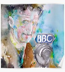 GEORGE ORWELL - watercolor portrait.7 Poster