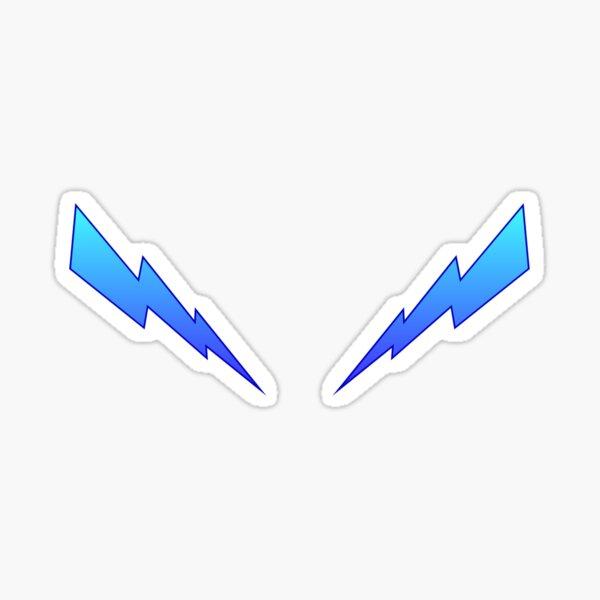 Blue Zaps Sticker