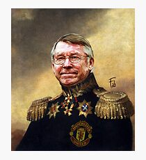 Sir Alex Ferguson. Master of Football Photographic Print
