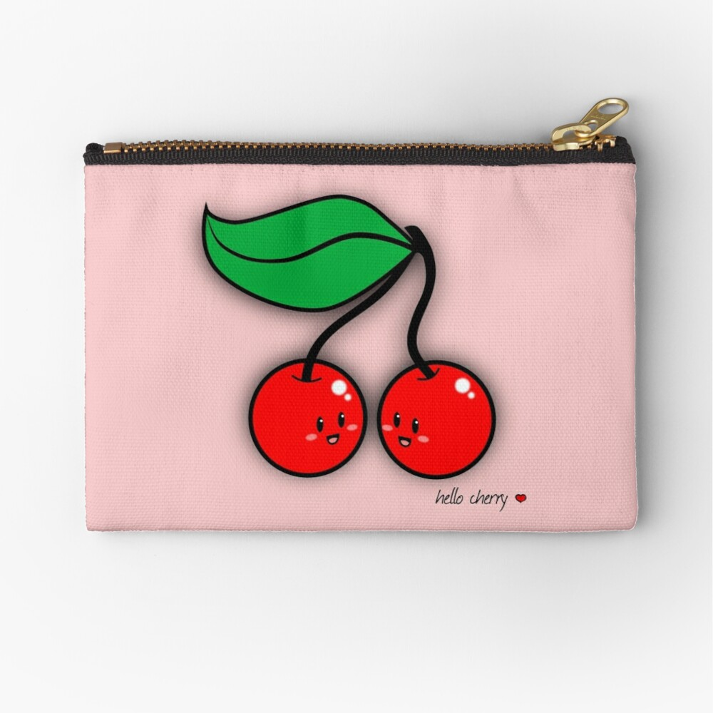 Hello Cherry - two lof bees Zipper Pouch
