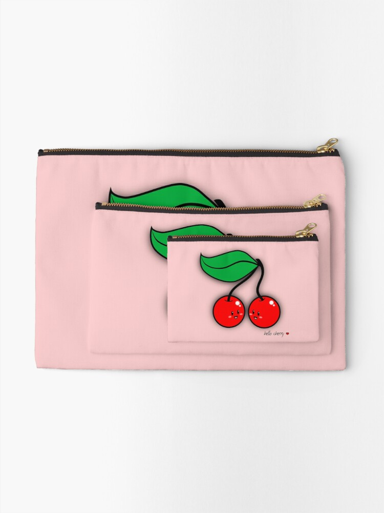 Alternate view of Hello Cherry - two lof bees Zipper Pouch