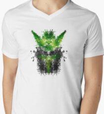 Rorschach Yoda Men's V-Neck T-Shirt