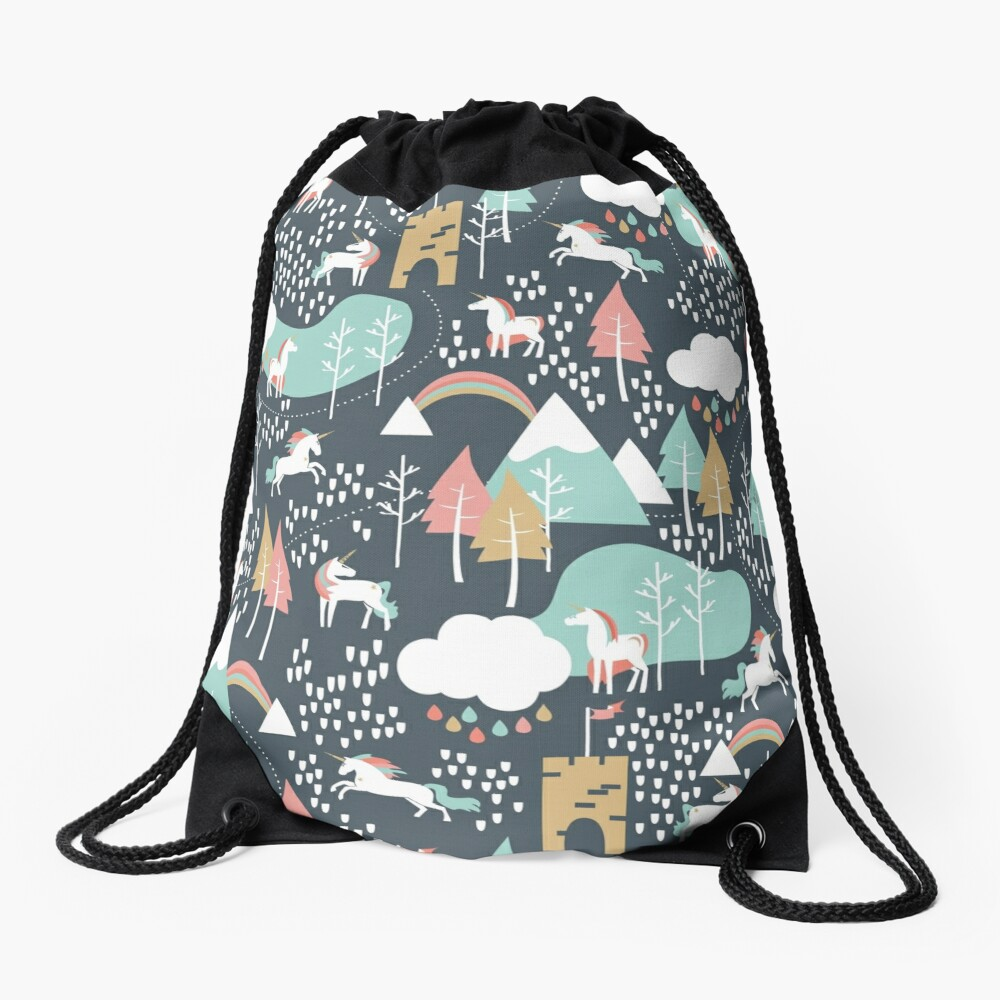 Unicorn Love Drawstring Bag
