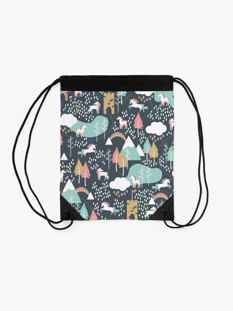 Alternate view of Unicorn Love Drawstring Bag