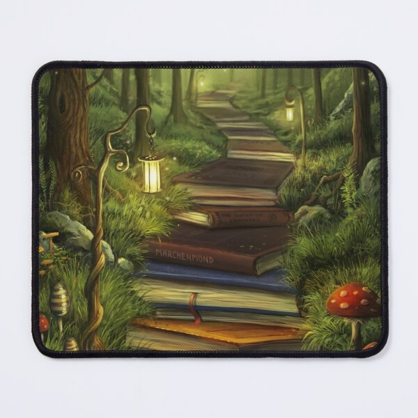 The Reader's Path Mouse Pad