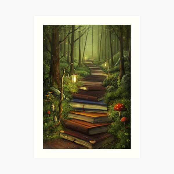The Reader's Path Art Print