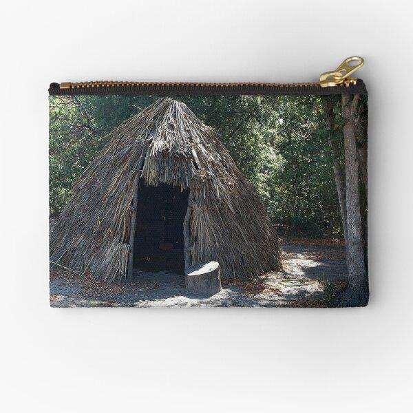 Native Dwelling at La Purisima Concepcion Zipper Pouch