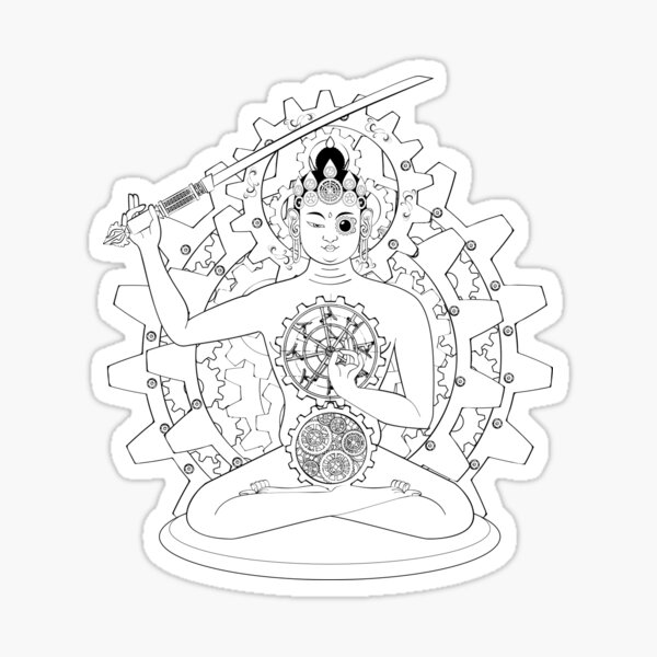 Steampunk Manjushri Sticker
