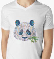 Ethnic Highly Detailed Panda Men's V-Neck T-Shirt