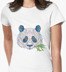 Ethnic Highly Detailed Panda Womens Fitted T-Shirt