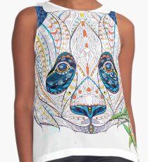 Ethnic Highly Detailed Panda Sleeveless Top
